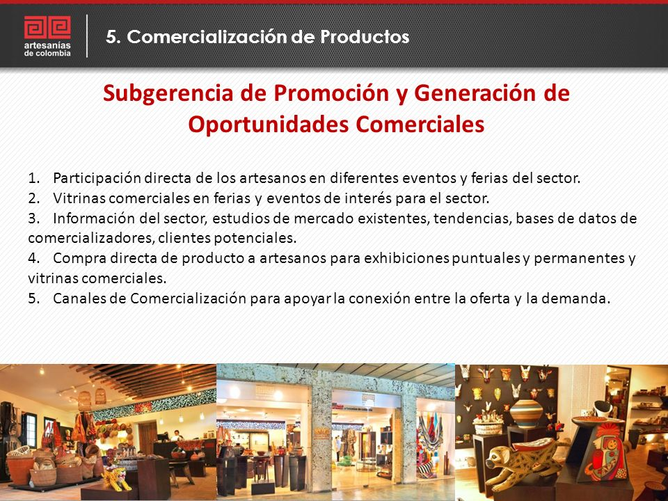 Subgerencia de Promoción y Generación de Oportunidades Comerciales