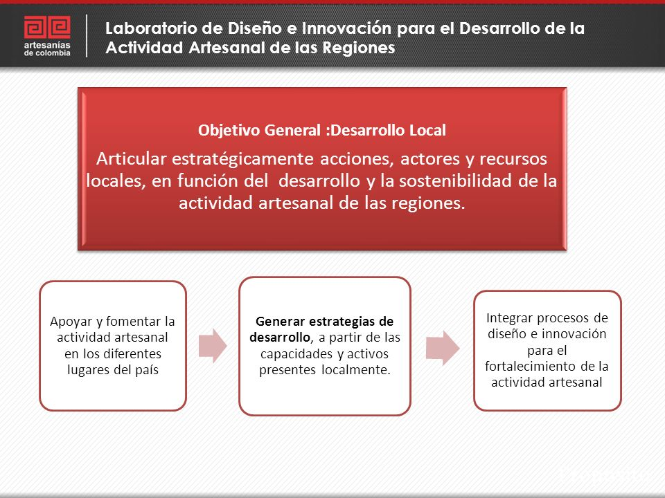 Objetivo General :Desarrollo Local