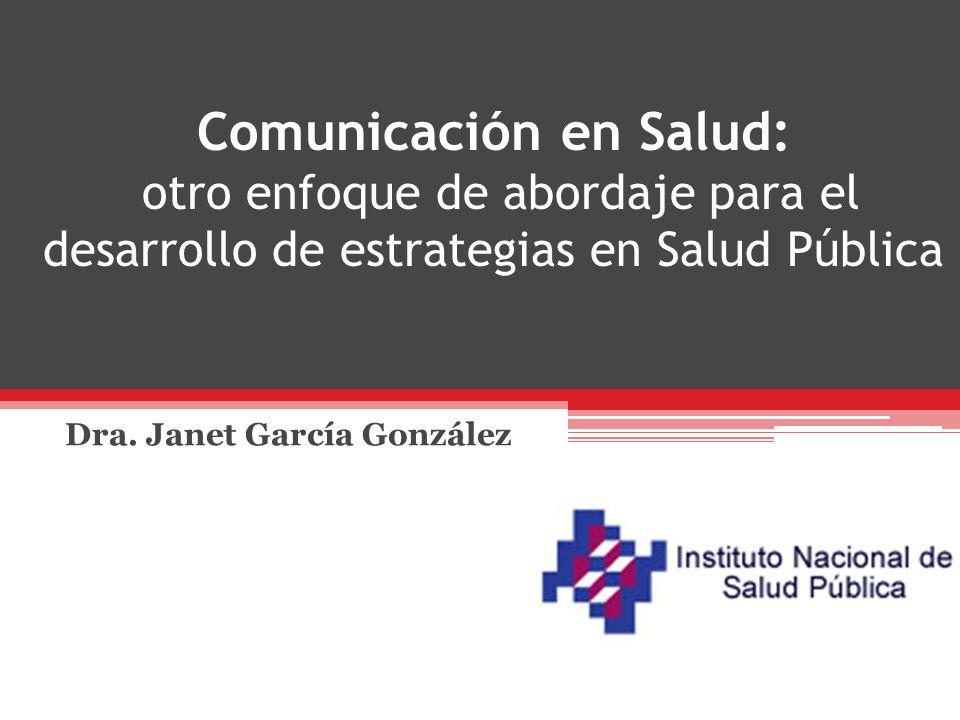 Dra. Janet García González
