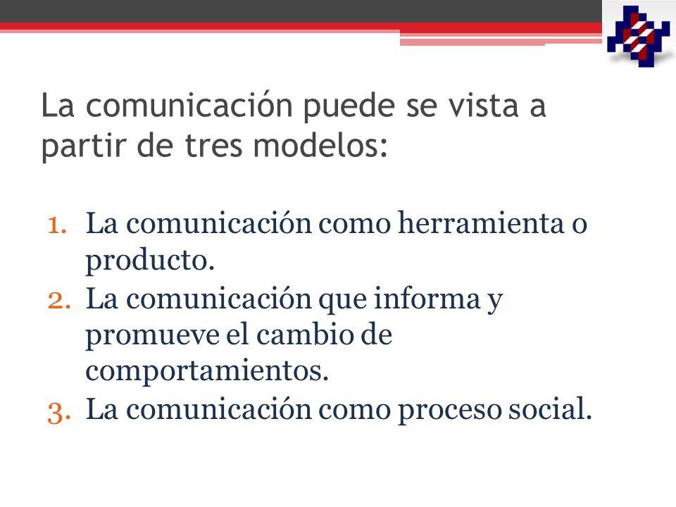 La comunicación puede se vista a partir de tres modelos: