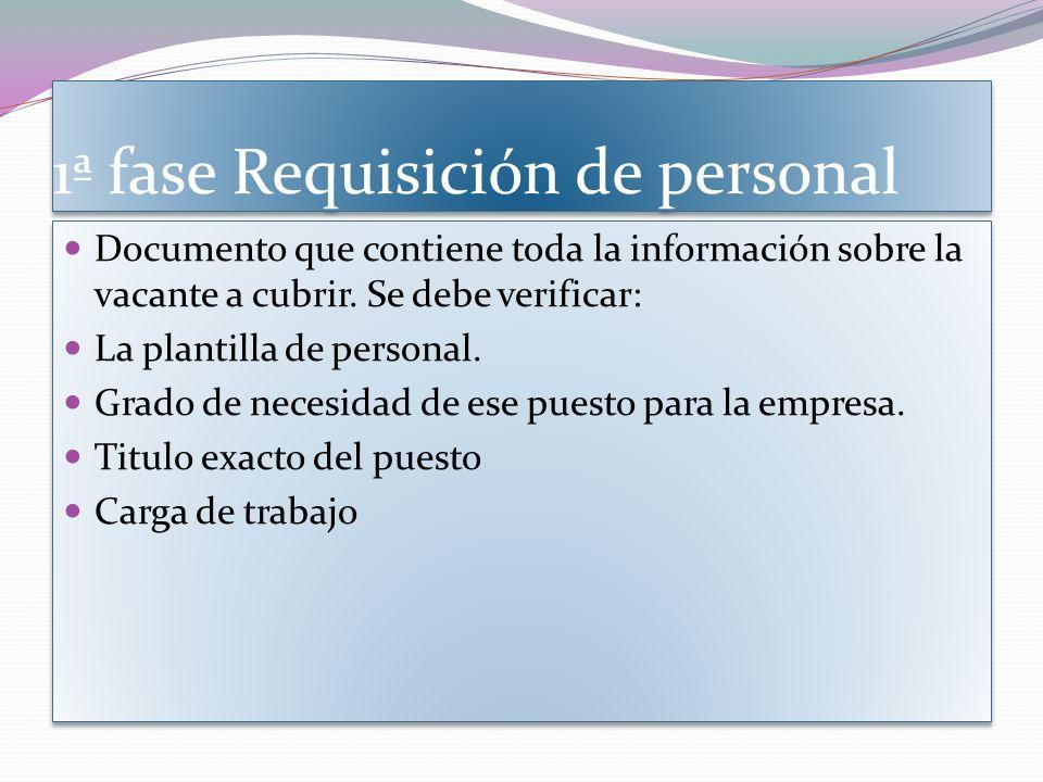 1ª fase Requisición de personal