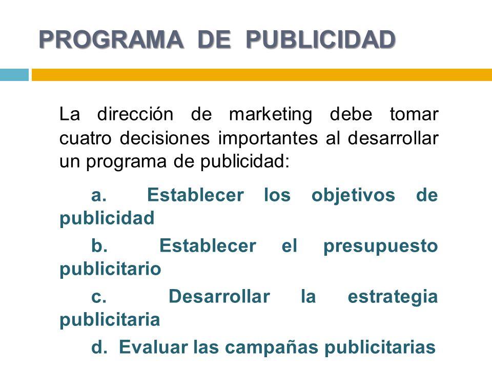 PROGRAMA DE PUBLICIDAD