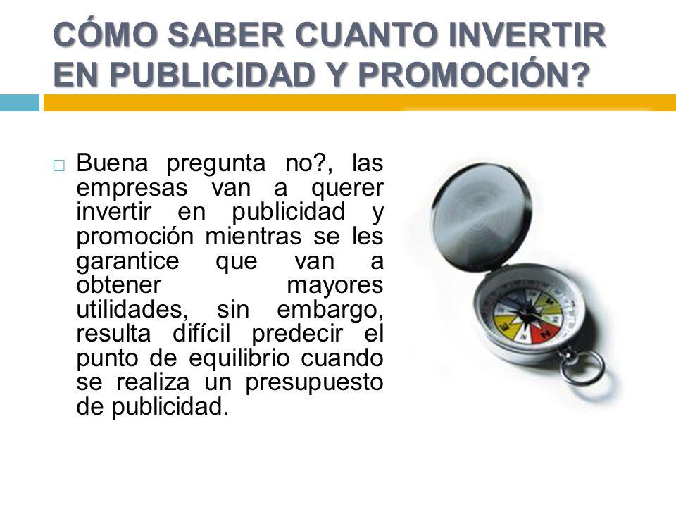 CÓMO SABER CUANTO INVERTIR EN PUBLICIDAD Y PROMOCIÓN