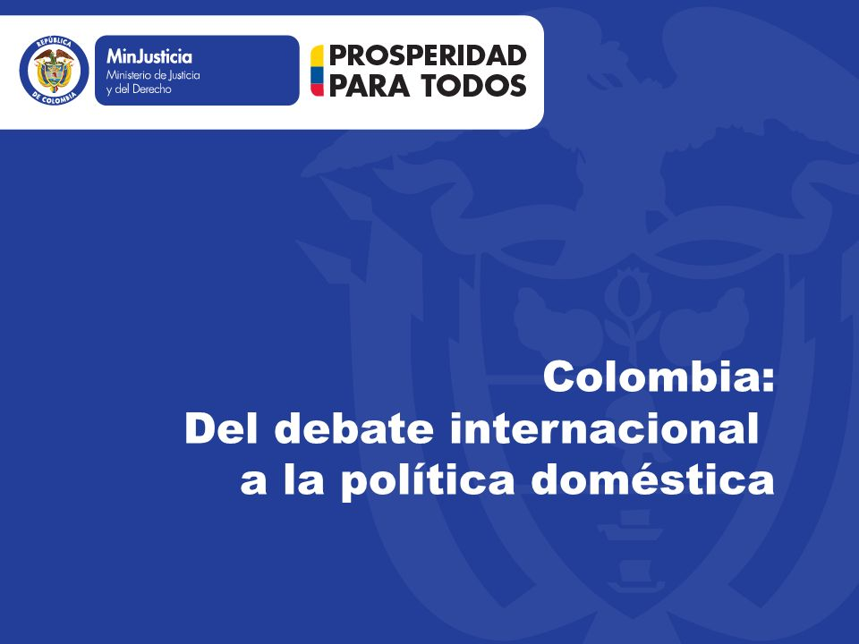 Colombia del debate internacional a la pol tica dom stica for La politica internacional