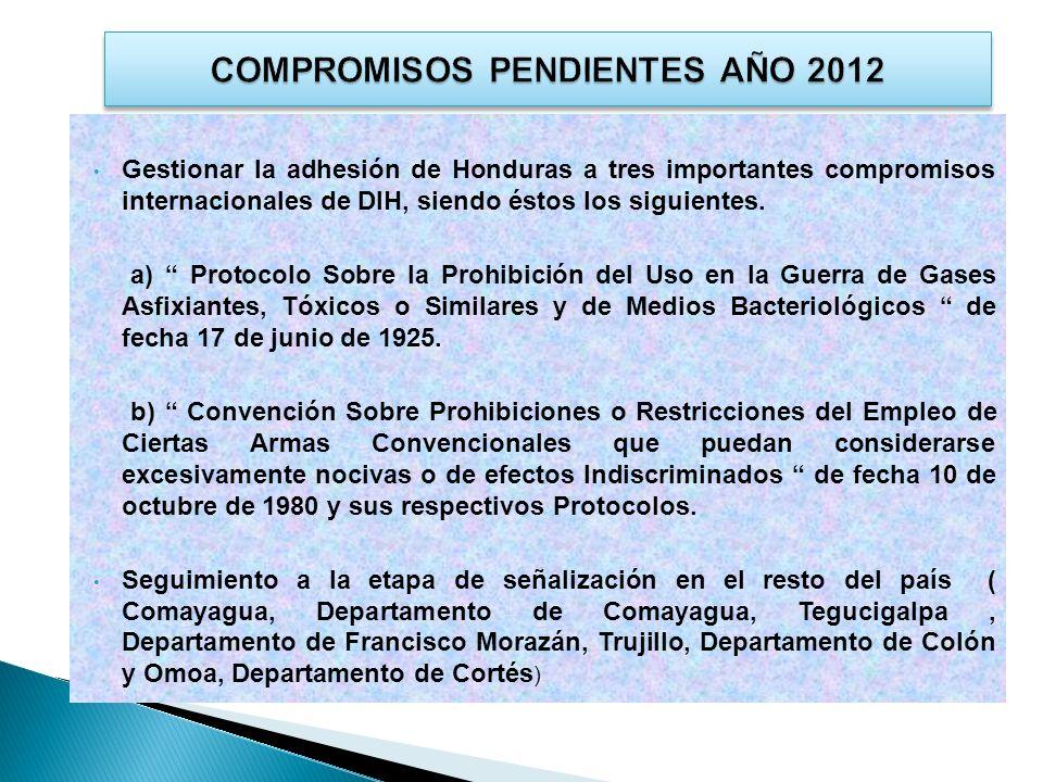 COMPROMISOS PENDIENTES AÑO 2012