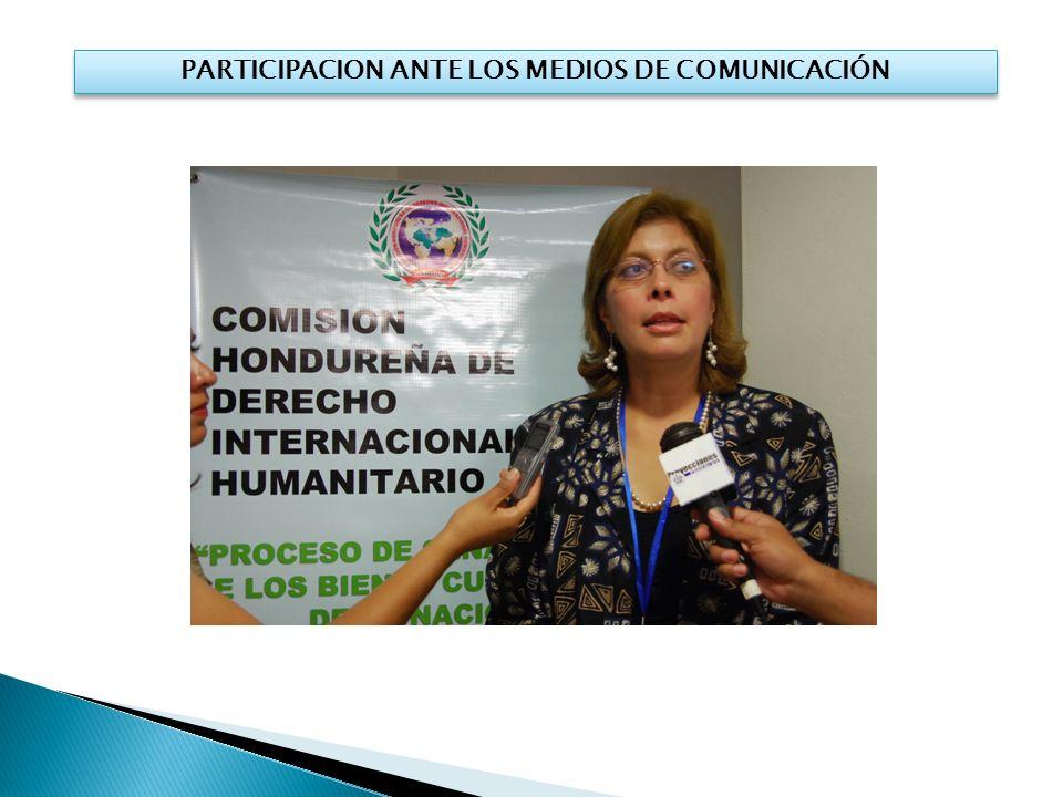 PARTICIPACION ANTE LOS MEDIOS DE COMUNICACIÓN