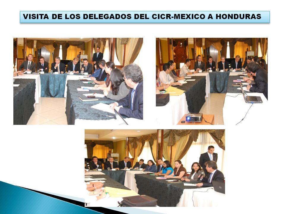 VISITA DE LOS DELEGADOS DEL CICR-MEXICO A HONDURAS