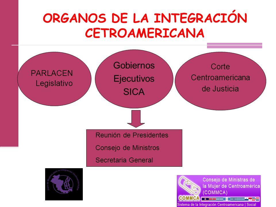 ORGANOS DE LA INTEGRACIÓN CETROAMERICANA