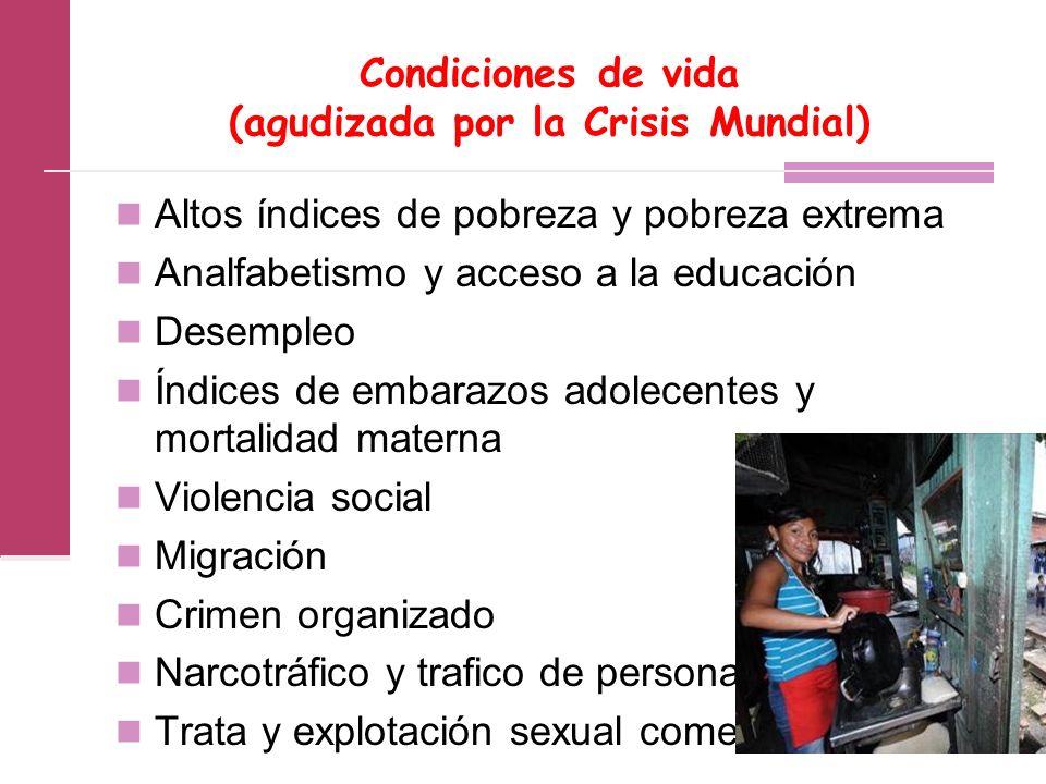 Condiciones de vida (agudizada por la Crisis Mundial)
