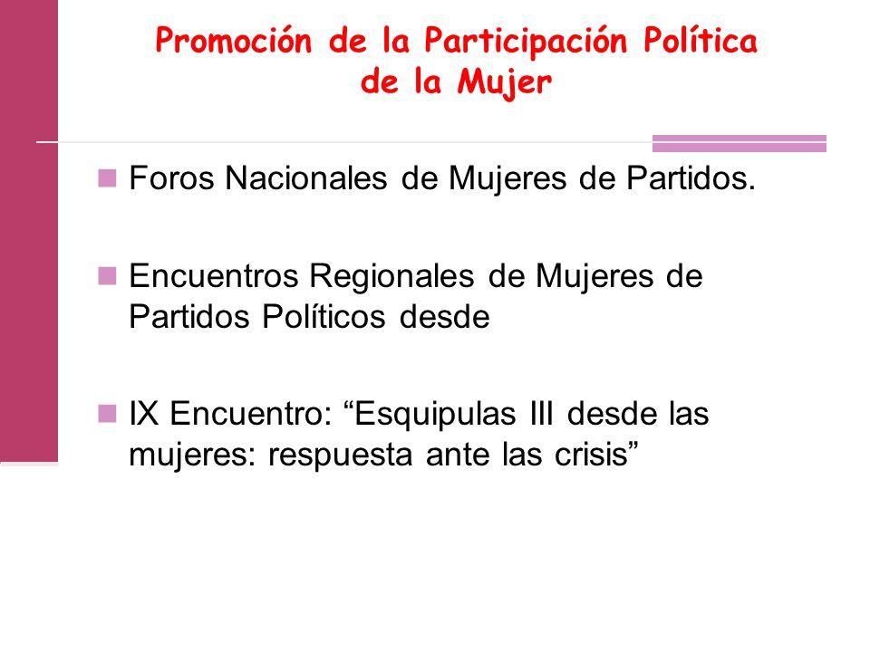 Promoción de la Participación Política de la Mujer