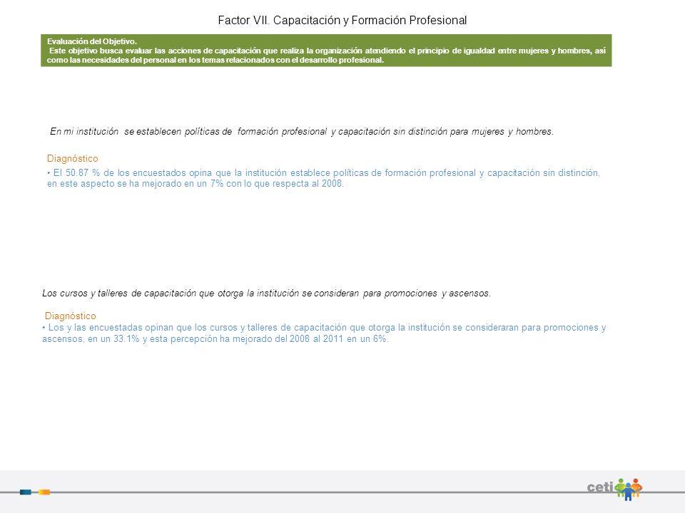 Factor VII. Capacitación y Formación Profesional
