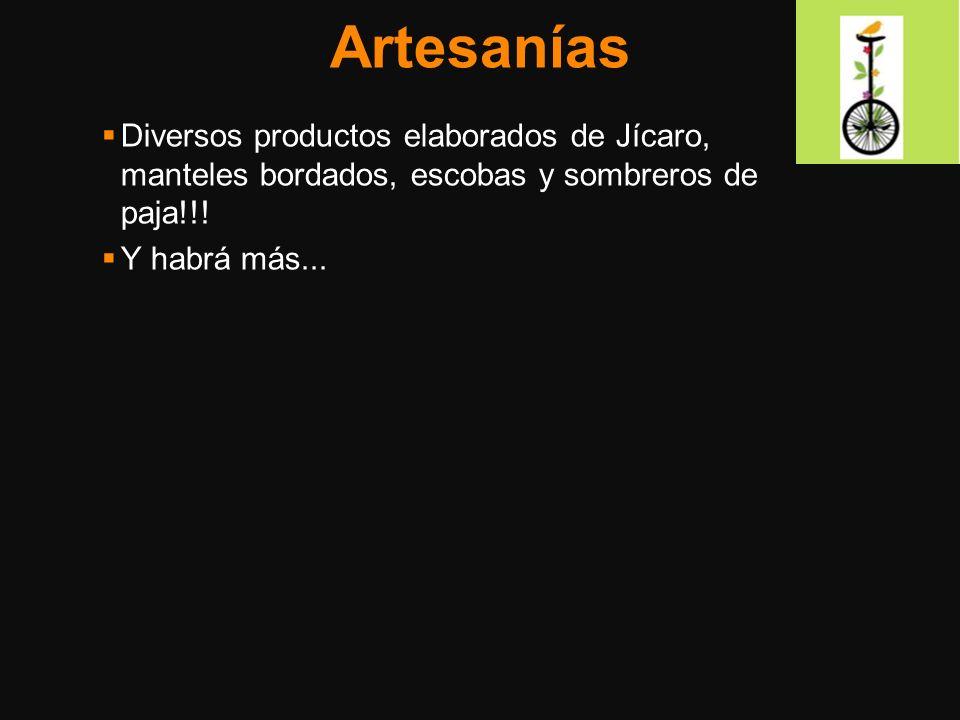 Artesanías Diversos productos elaborados de Jícaro, manteles bordados, escobas y sombreros de paja!!!
