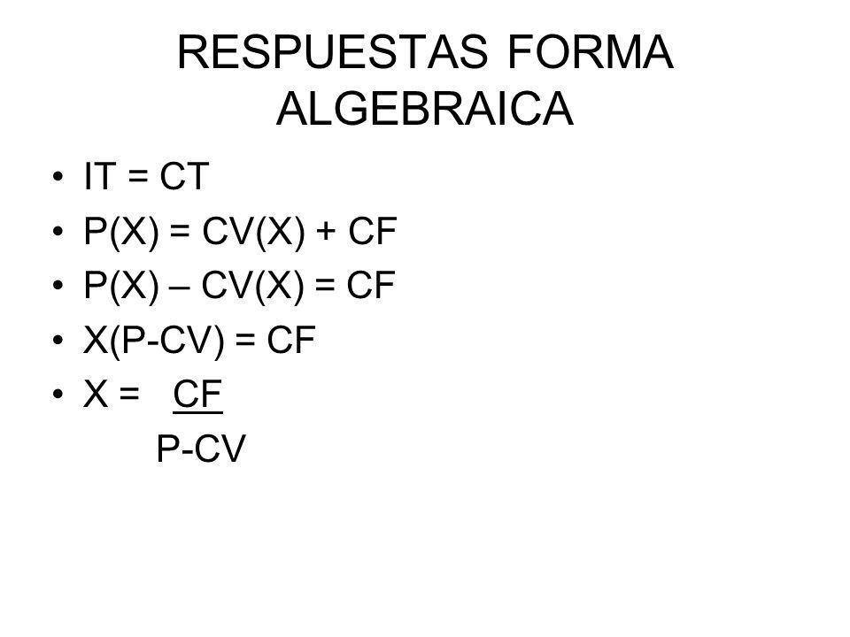 RESPUESTAS FORMA ALGEBRAICA