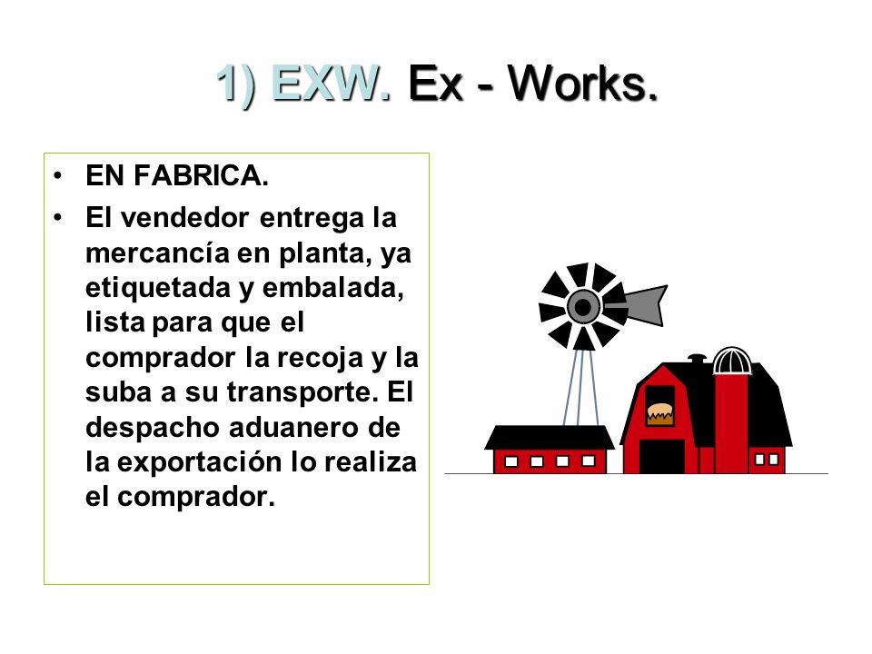 1) EXW. Ex - Works. EN FABRICA.