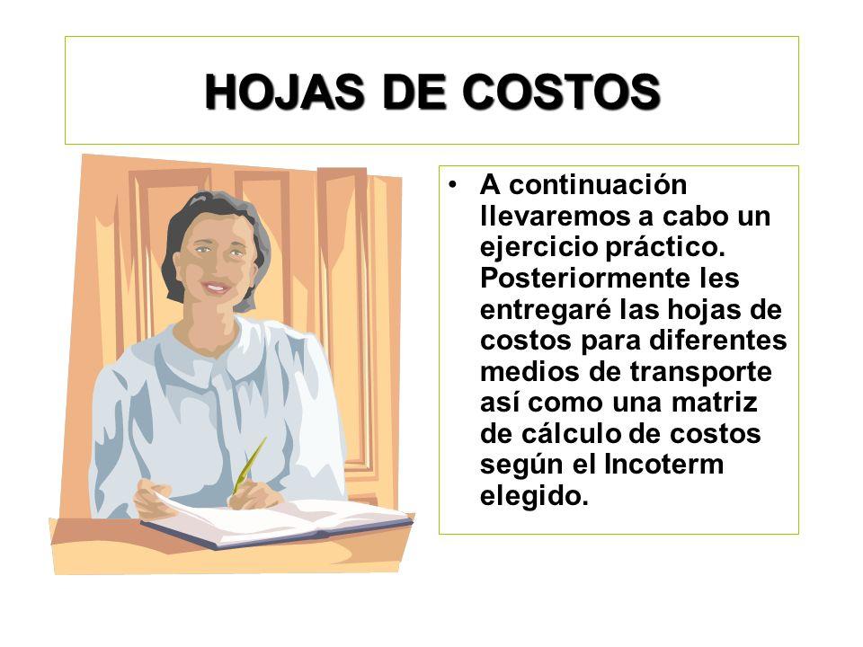 HOJAS DE COSTOS