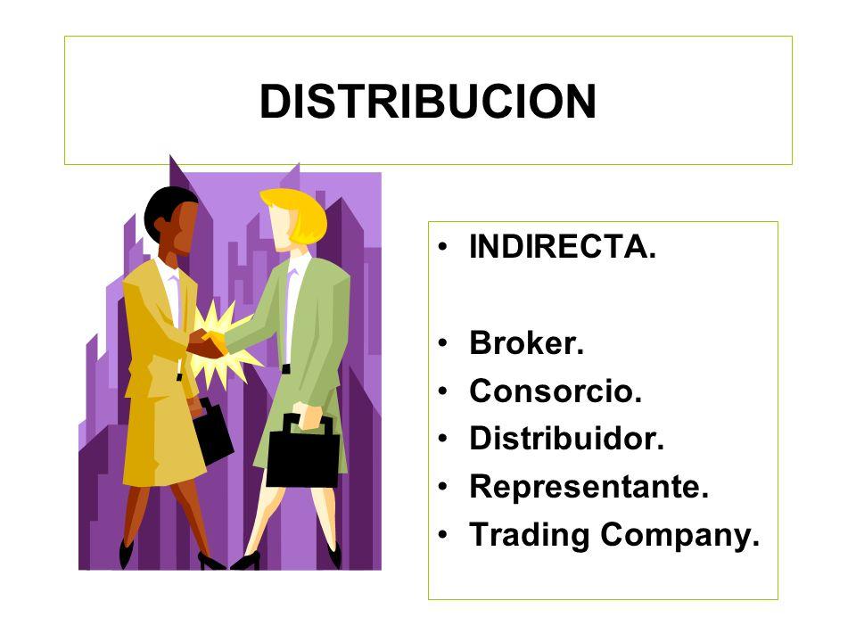 DISTRIBUCION INDIRECTA. Broker. Consorcio. Distribuidor.