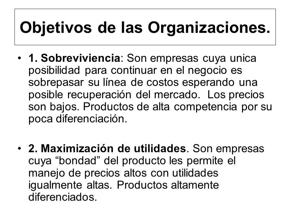 Objetivos de las Organizaciones.