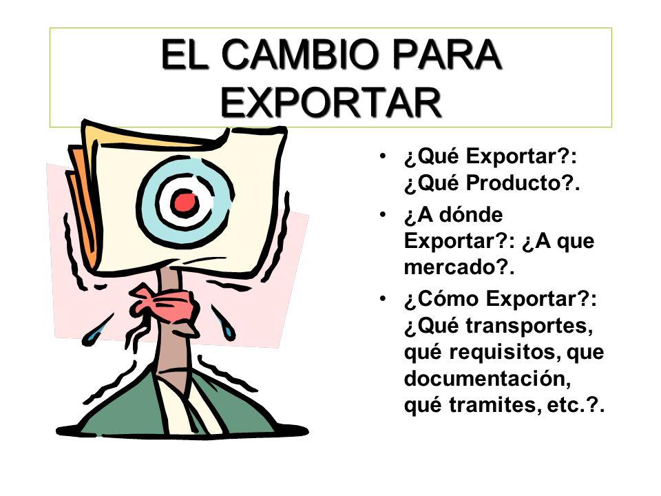 EL CAMBIO PARA EXPORTAR
