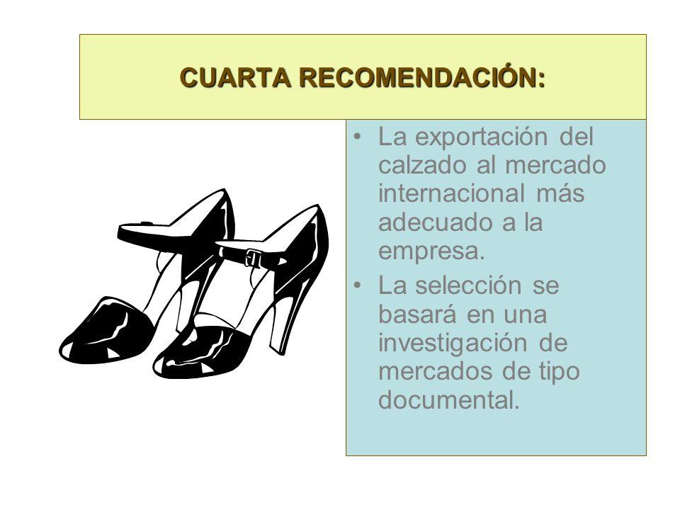 CUARTA RECOMENDACIÓN: