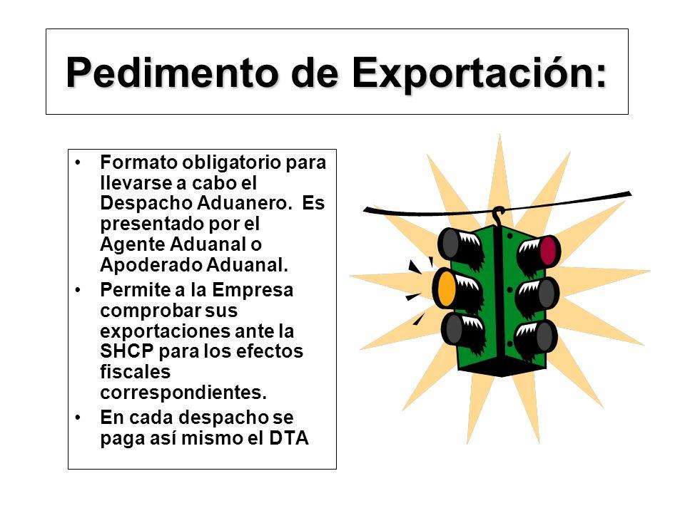 Pedimento de Exportación: