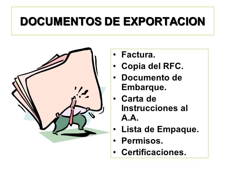 DOCUMENTOS DE EXPORTACION