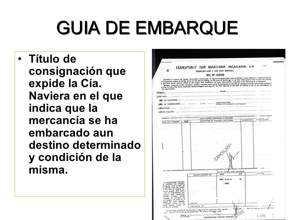 GUIA DE EMBARQUE