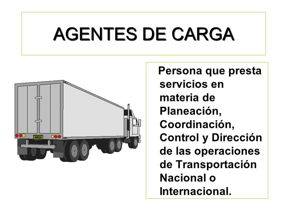 AGENTES DE CARGA