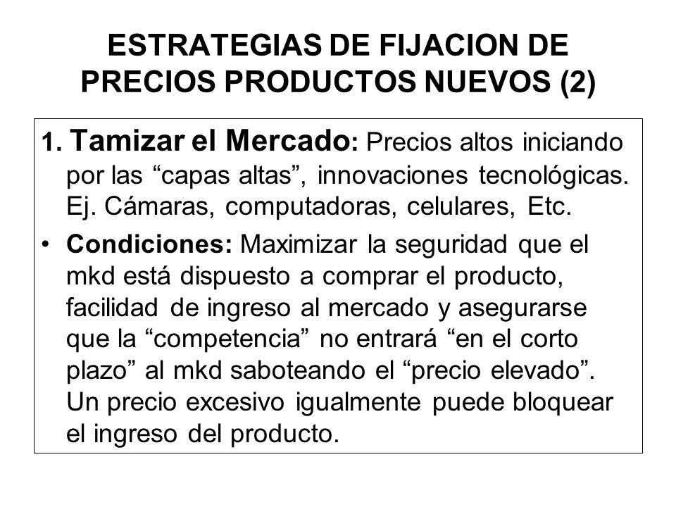 ESTRATEGIAS DE FIJACION DE PRECIOS PRODUCTOS NUEVOS (2)