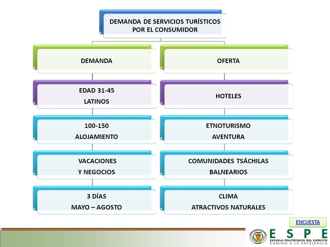 DEMANDA DE SERVICIOS TURÍSTICOS POR EL CONSUMIDOR