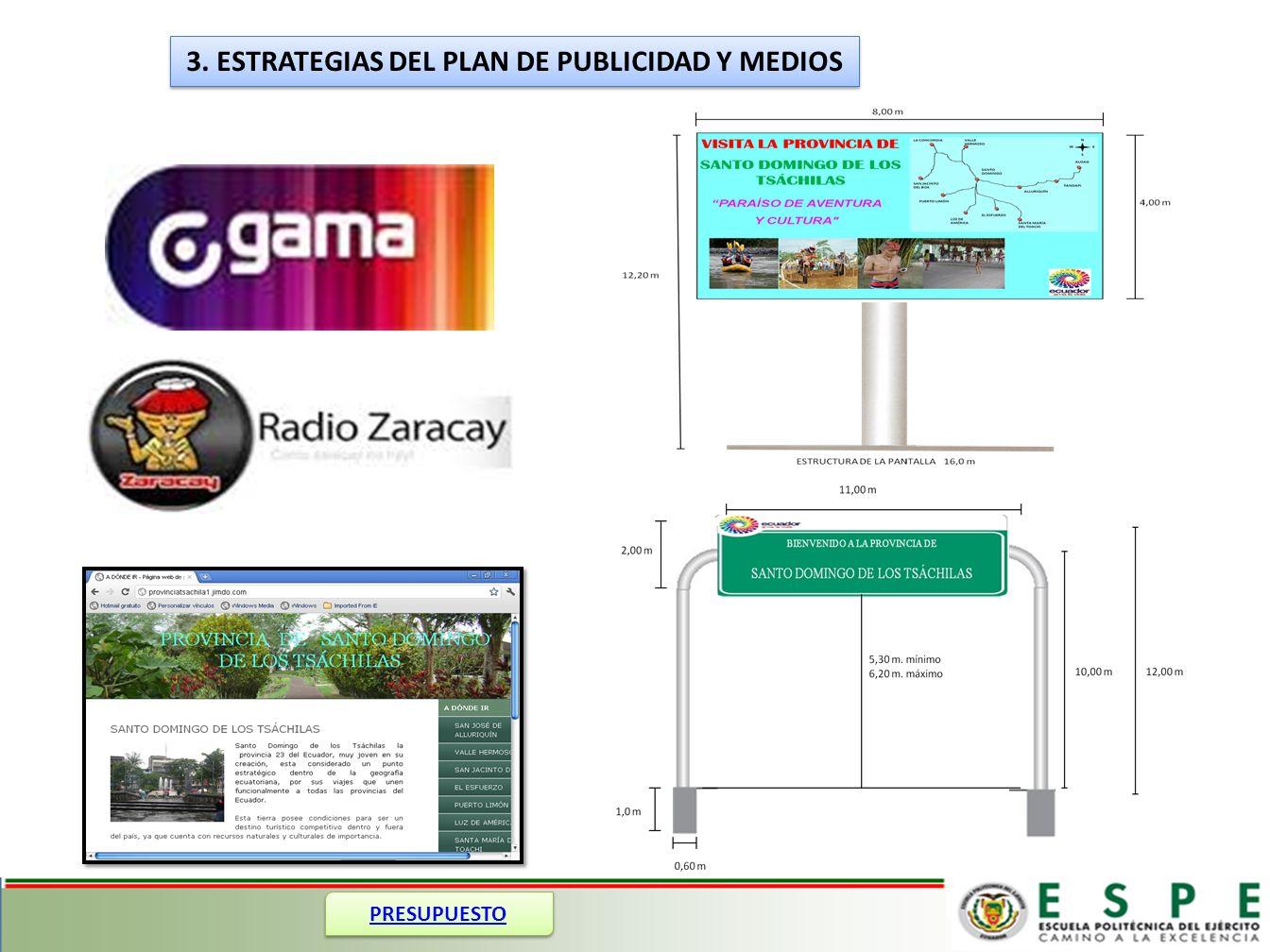 3. ESTRATEGIAS DEL PLAN DE PUBLICIDAD Y MEDIOS