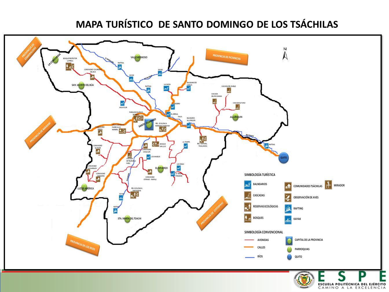 MAPA TURÍSTICO DE SANTO DOMINGO DE LOS TSÁCHILAS