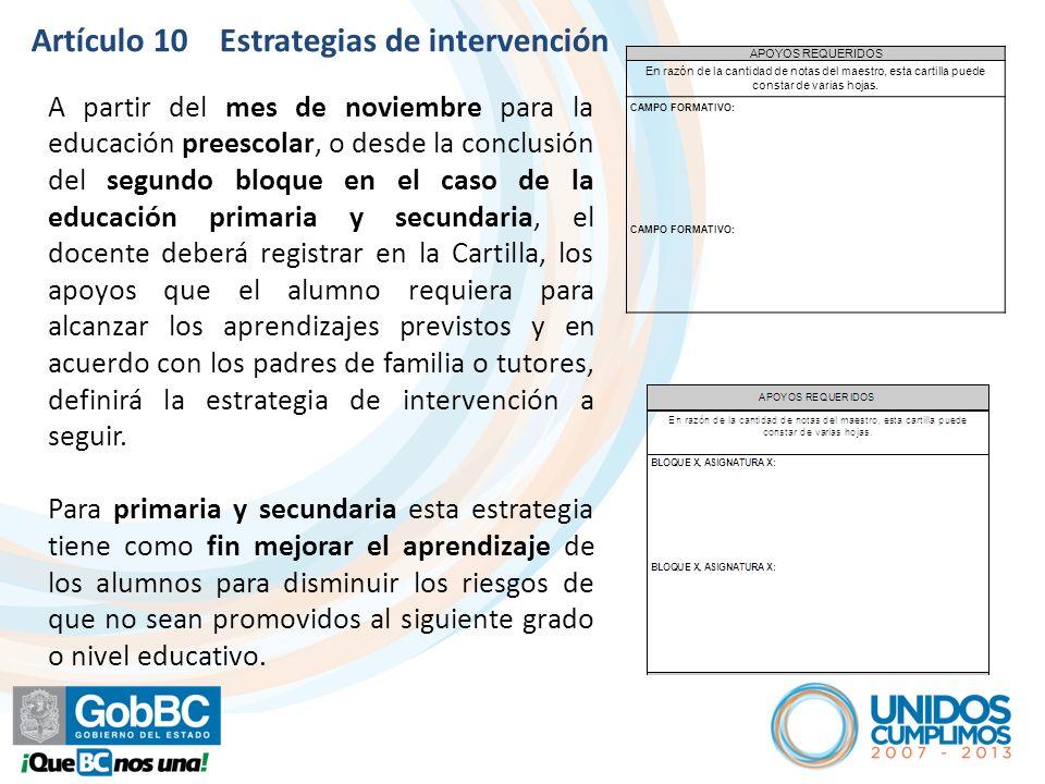 Artículo 10 Estrategias de intervención