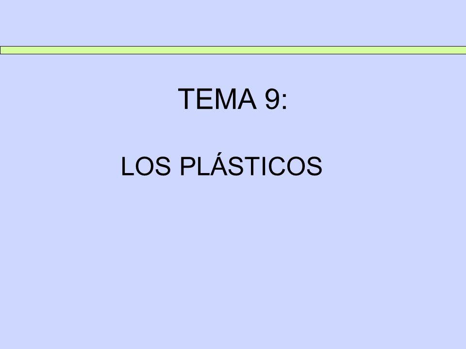 TEMA 9: LOS PLÁSTICOS