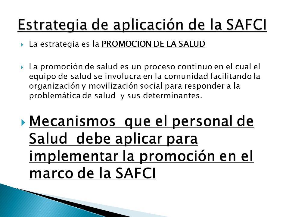 Estrategia de aplicación de la SAFCI