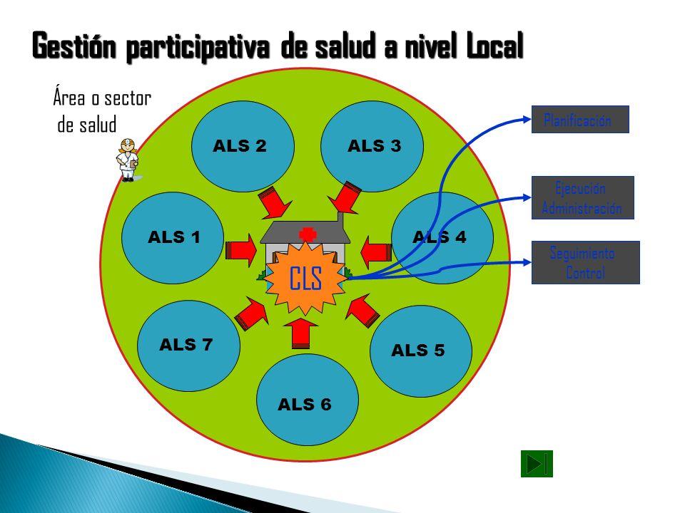 Gestión participativa de salud a nivel Local