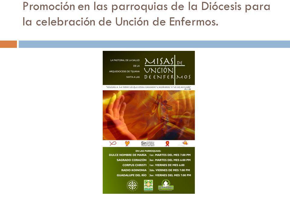Promoción en las parroquias de la Diócesis para la celebración de Unción de Enfermos.