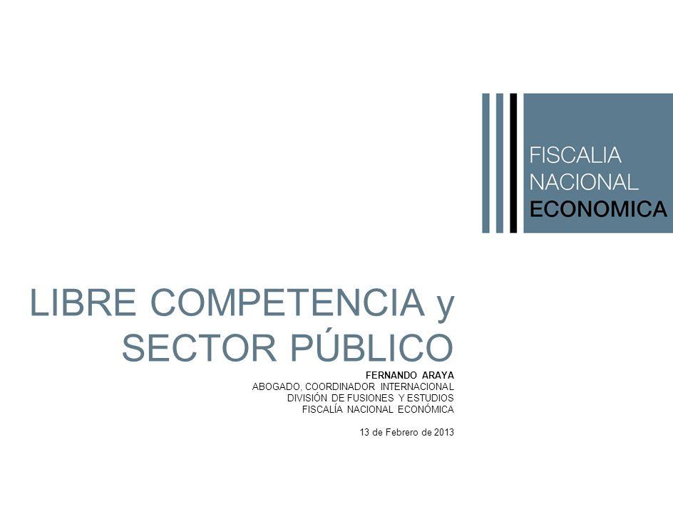 LIBRE COMPETENCIA y SECTOR PÚBLICO FERNANDO ARAYA