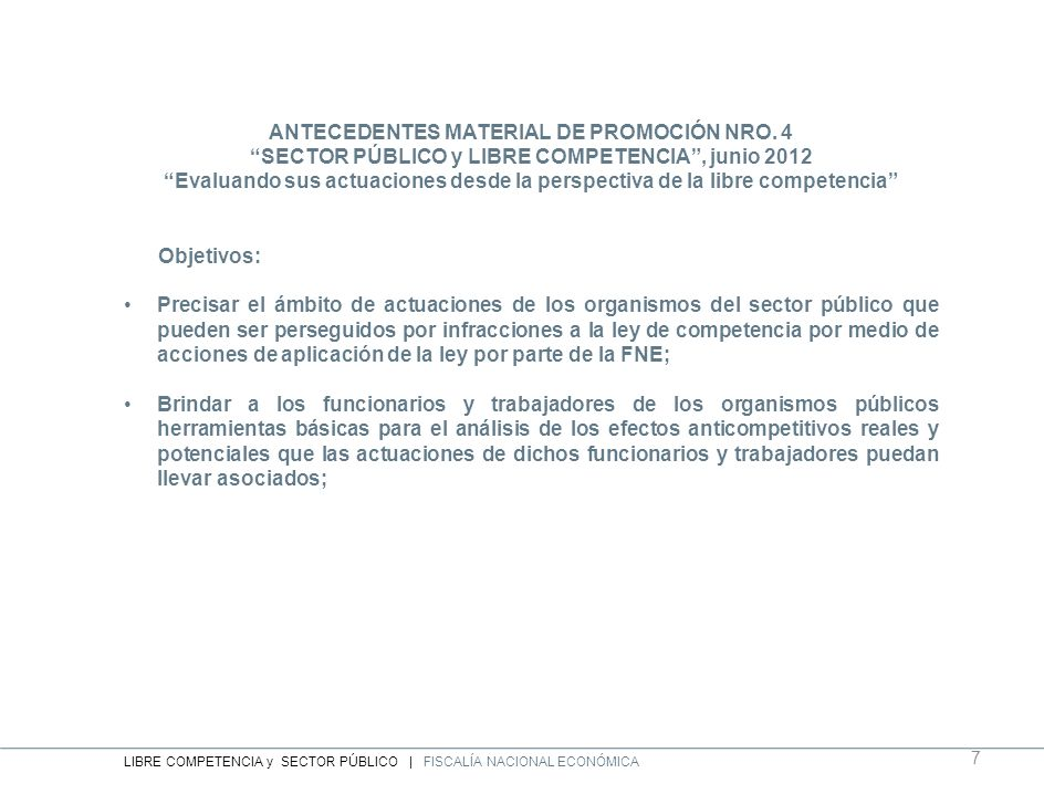 ANTECEDENTES MATERIAL DE PROMOCIÓN NRO. 4