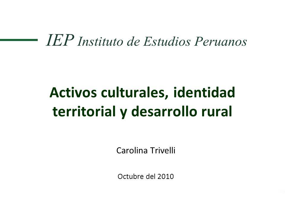 Activos culturales, identidad territorial y desarrollo rural