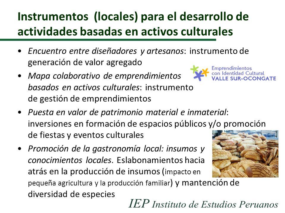 Instrumentos (locales) para el desarrollo de actividades basadas en activos culturales