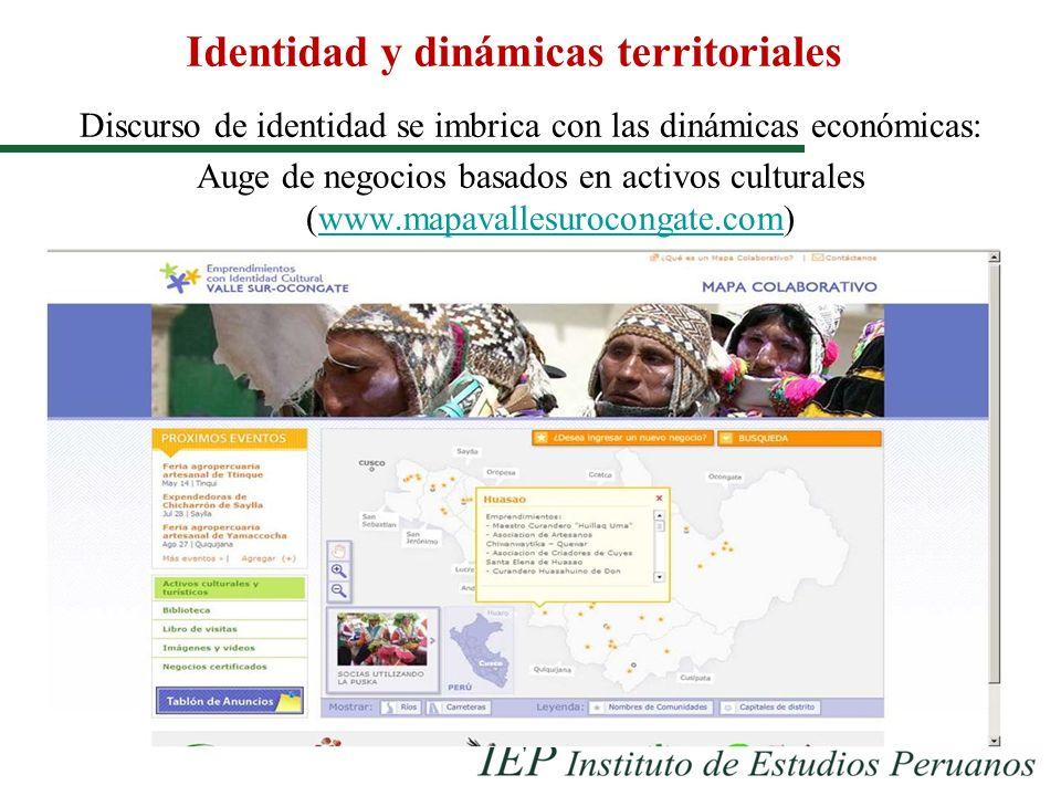 Identidad y dinámicas territoriales