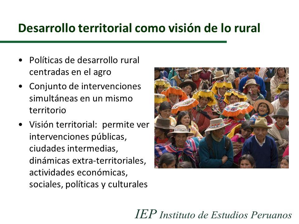 Desarrollo territorial como visión de lo rural