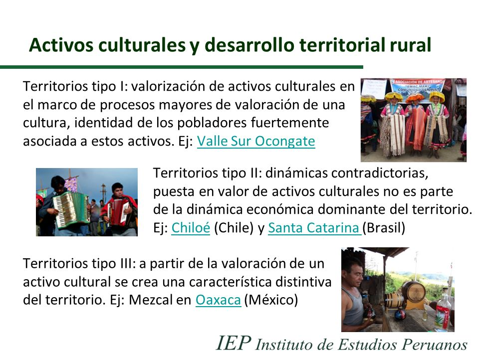 Activos culturales y desarrollo territorial rural