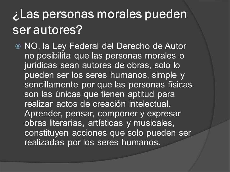 ¿Las personas morales pueden ser autores