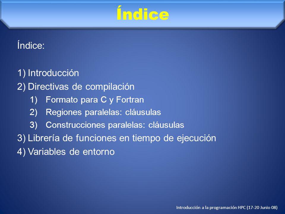 Índice Índice: Introducción Directivas de compilación