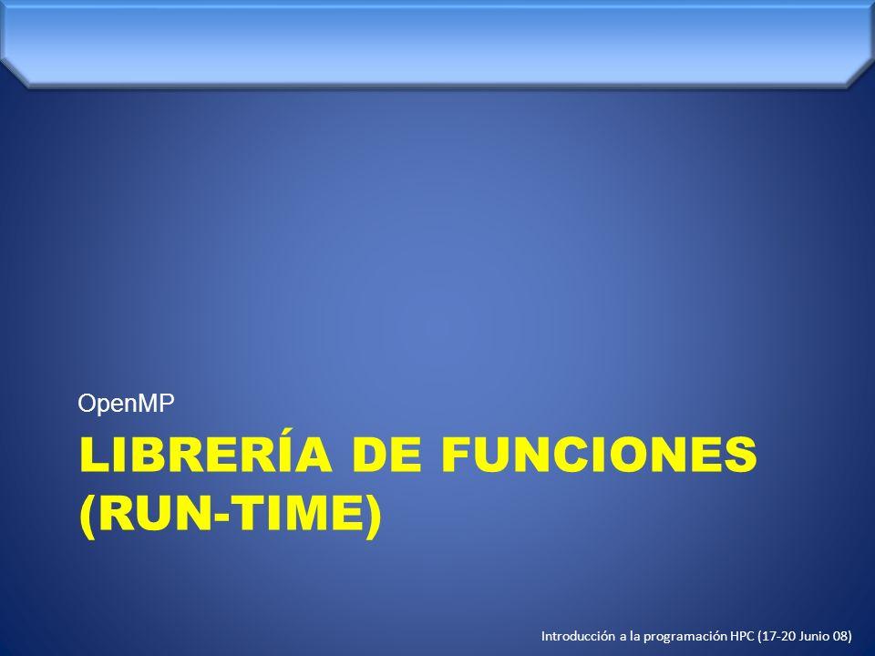 LIBRERÍA DE FUNCIONES (RUN-TIME)