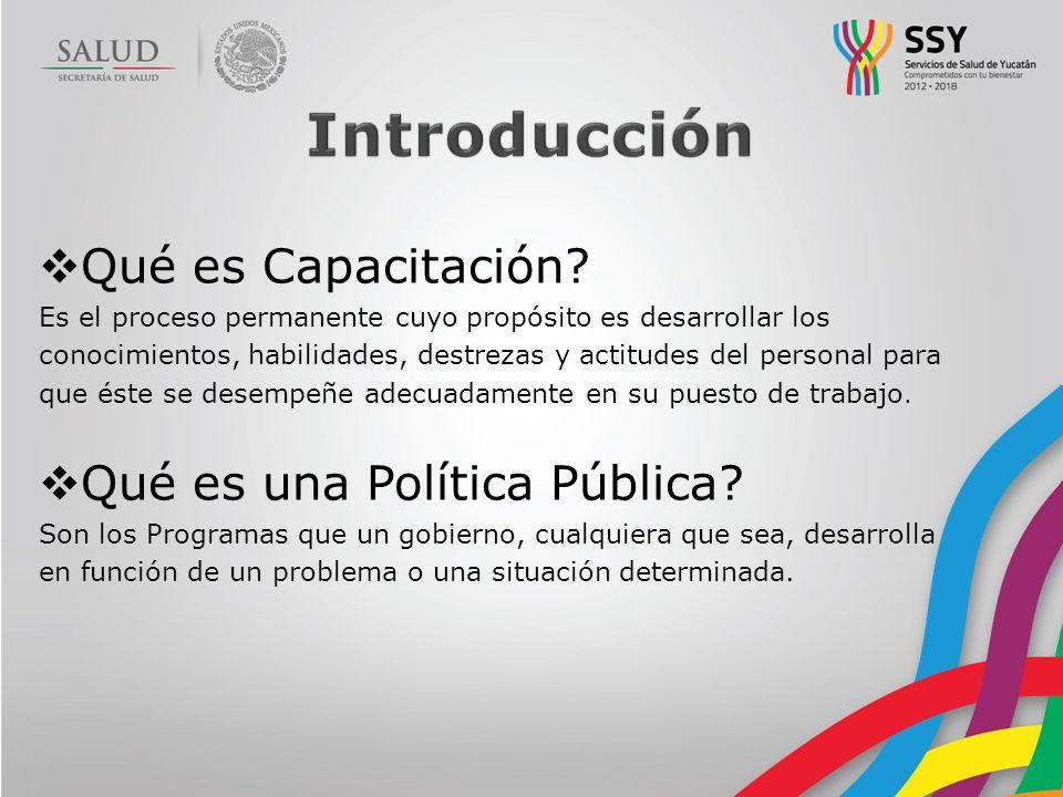 Introducción Qué es Capacitación Qué es una Política Pública