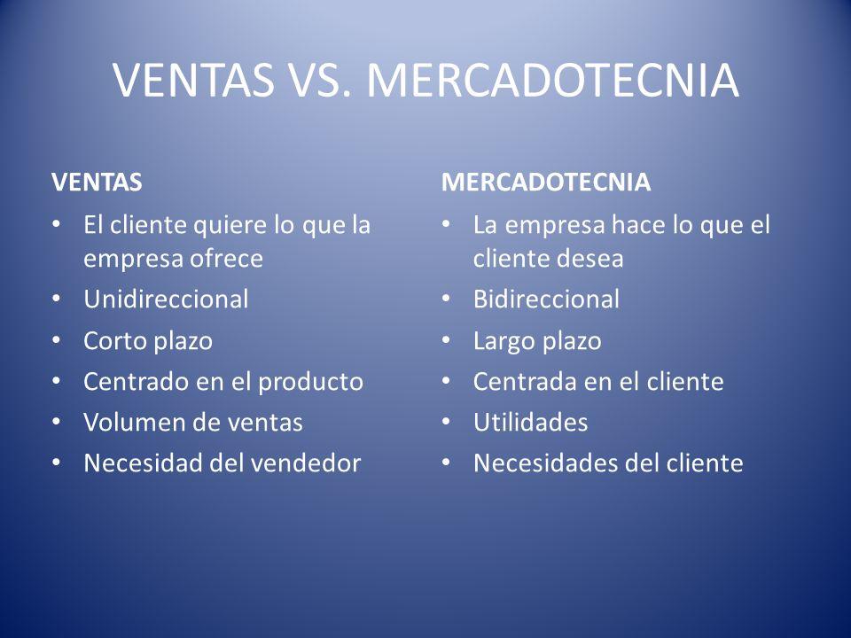 VENTAS VS. MERCADOTECNIA
