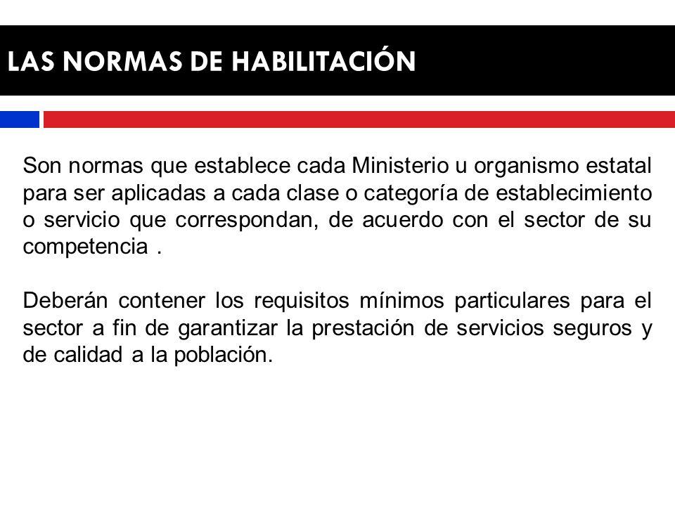 LAS NORMAS DE HABILITACIÓN