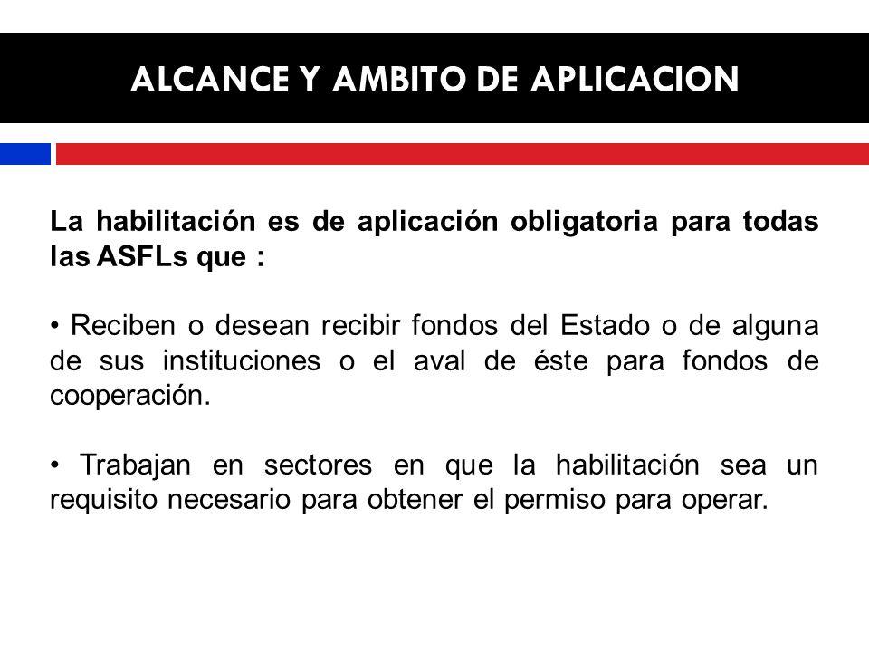 ALCANCE Y AMBITO DE APLICACION